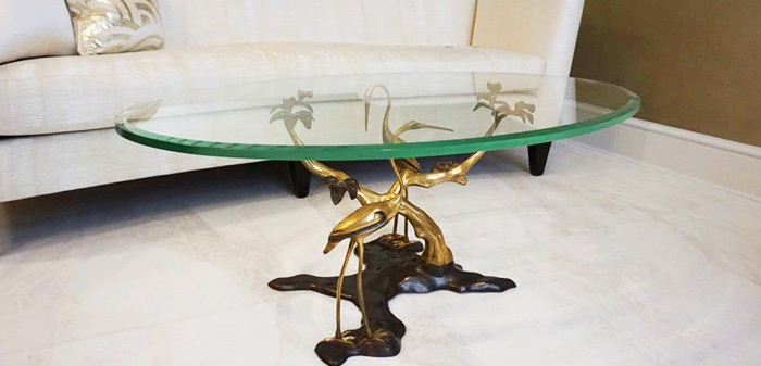 Bespoke-table-top-19mm-oval-bevelled-glass